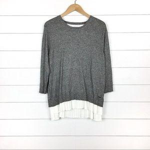 NWT Calvin Klein Pleated Cotton Blend Sweater